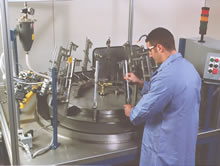 Man with Rotary Index Machine